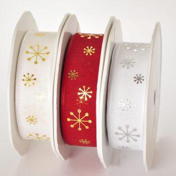 Geschenkband «Shiny Snowflake»