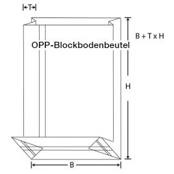 OPP Blockbodenbeutel