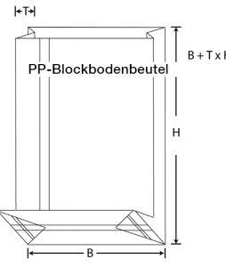 PP-Blockbodenbeutel