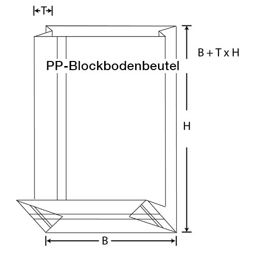 PP Blockbodenbeutel