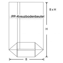 PP Kreuzbodenbeutel