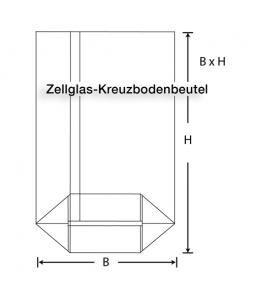 Zellglas-Kreuzbodenbeutel