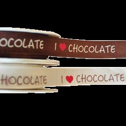 """Geschenkband """"I love Chocolate"""""""